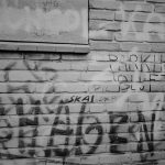 Graffiti op de muur van Parkhof Alkmaar
